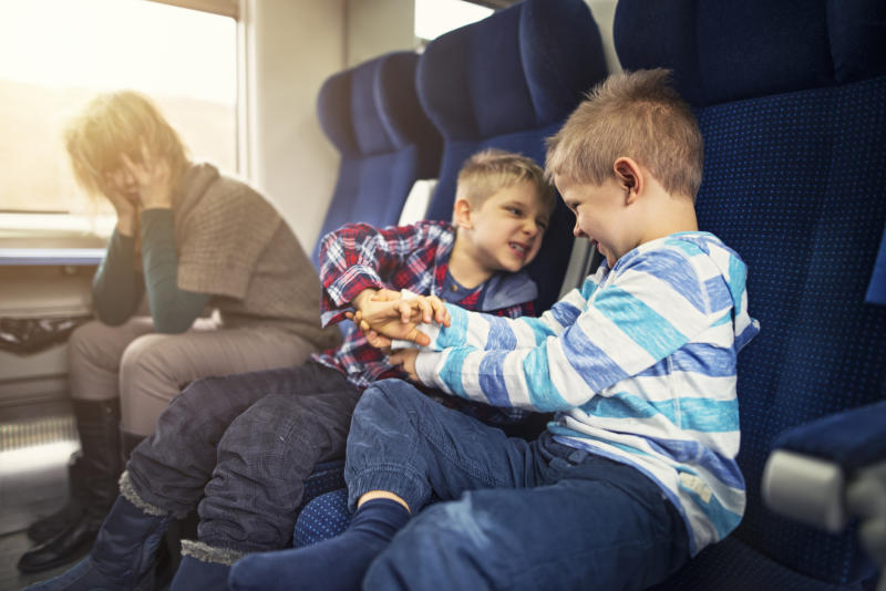 Whether you're travelling by train, car or plane - arguments are inevitable [Photo: Getty]
