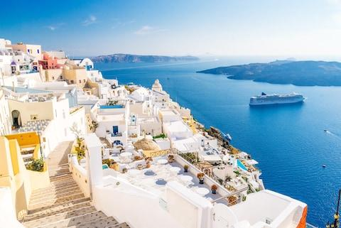 For unfettered luxury, head to Santorini - even with the kids - Credit: ©aetherial - stock.adobe.com