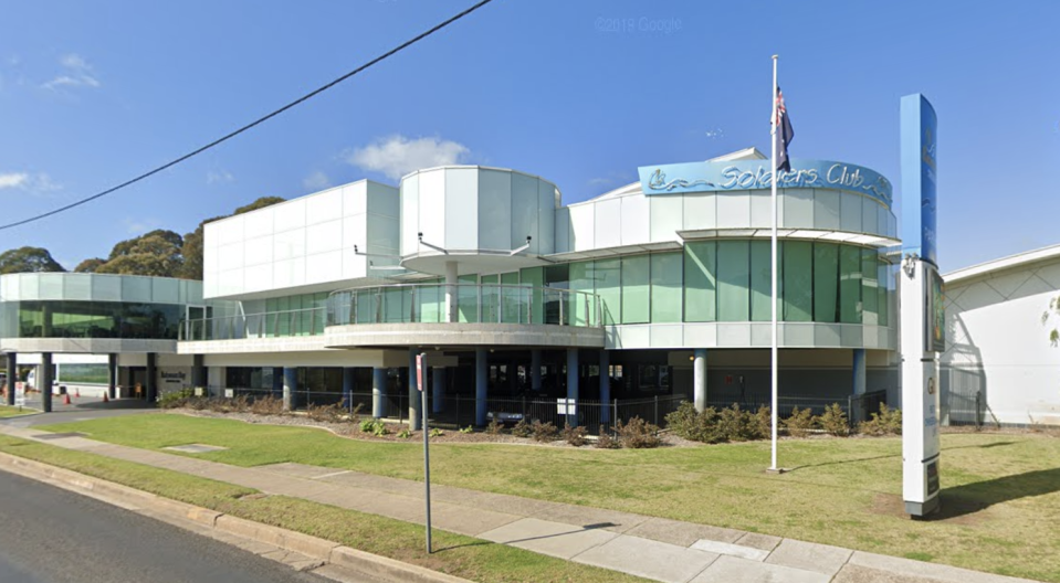 Pictured is the Batemans Bay Soldiers Club where coronavirus cases have been detected.