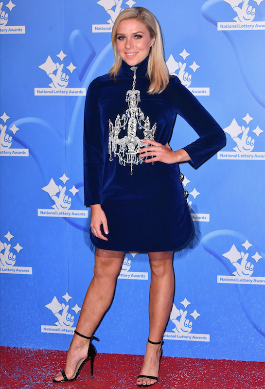 Gabby attended the National Lottery Awards in London on Monday night (Credit: REX)