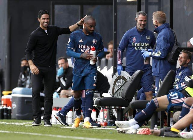 Arsenal manager Mikel Arteta was happy after his visit to Craven Cottage earlier this season