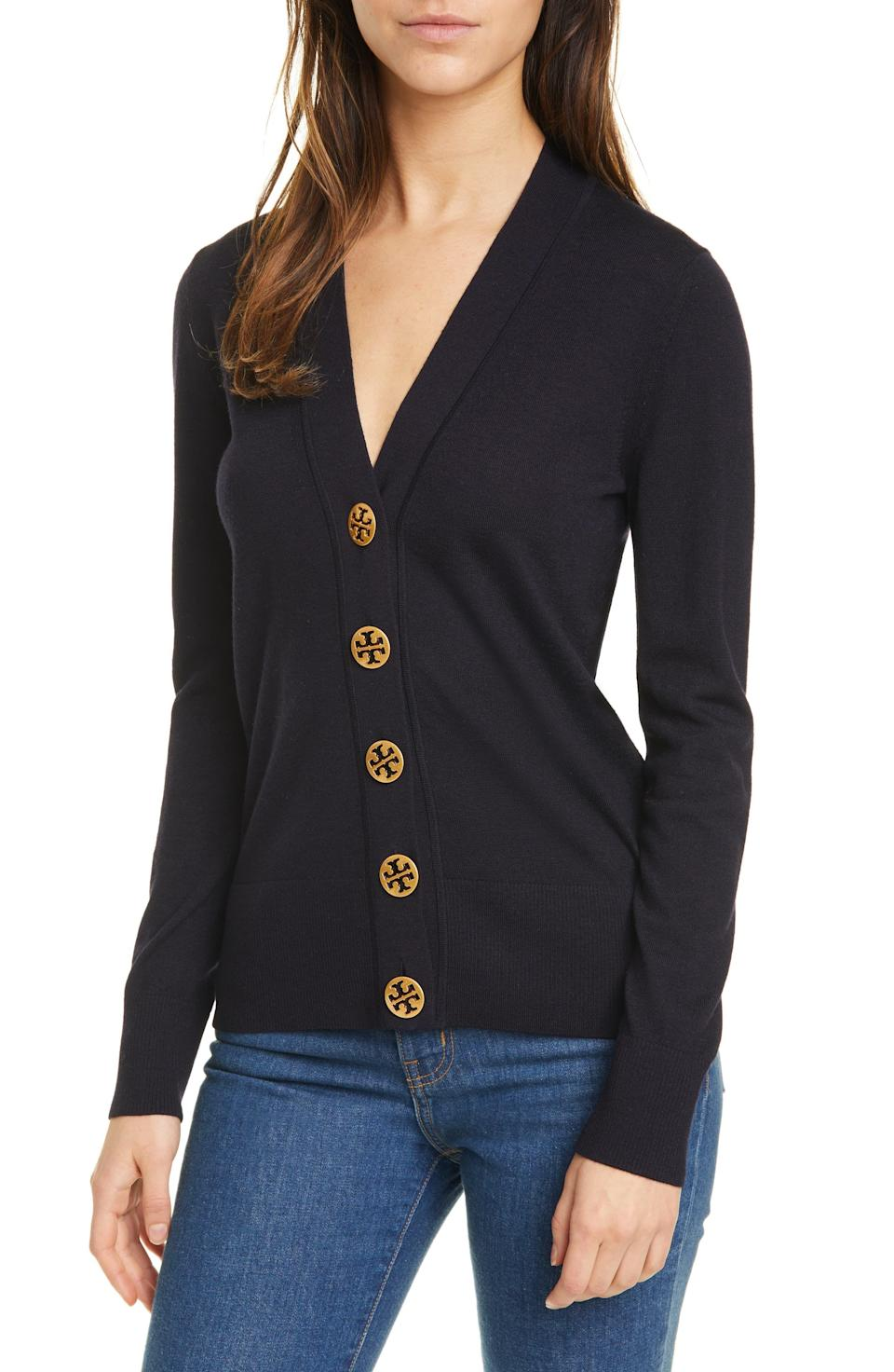 """<p><strong>Tory Burch</strong></p><p>nordstrom.com</p><p><strong>$248.00</strong></p><p><a href=""""https://go.redirectingat.com?id=74968X1596630&url=https%3A%2F%2Fwww.nordstrom.com%2Fs%2Ftory-burch-simone-cardigan%2F5544994&sref=https%3A%2F%2Fwww.townandcountrymag.com%2Fstyle%2Ffashion-trends%2Fg22673885%2Fcute-fall-sweaters%2F"""" rel=""""nofollow noopener"""" target=""""_blank"""" data-ylk=""""slk:Shop Now"""" class=""""link rapid-noclick-resp"""">Shop Now</a></p><p>You can never go wrong with a classic wool cardigan. Tory Burch's version comes in five colors—and we're tempted to stock up on more than one.</p>"""