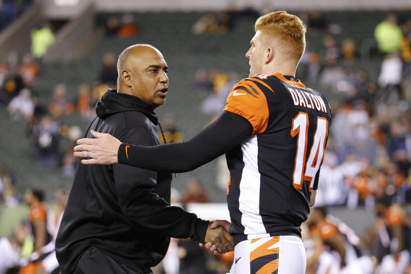 Marvin Lewis and Andy Dalton went 7-9 with the Bengals last season. (AP)