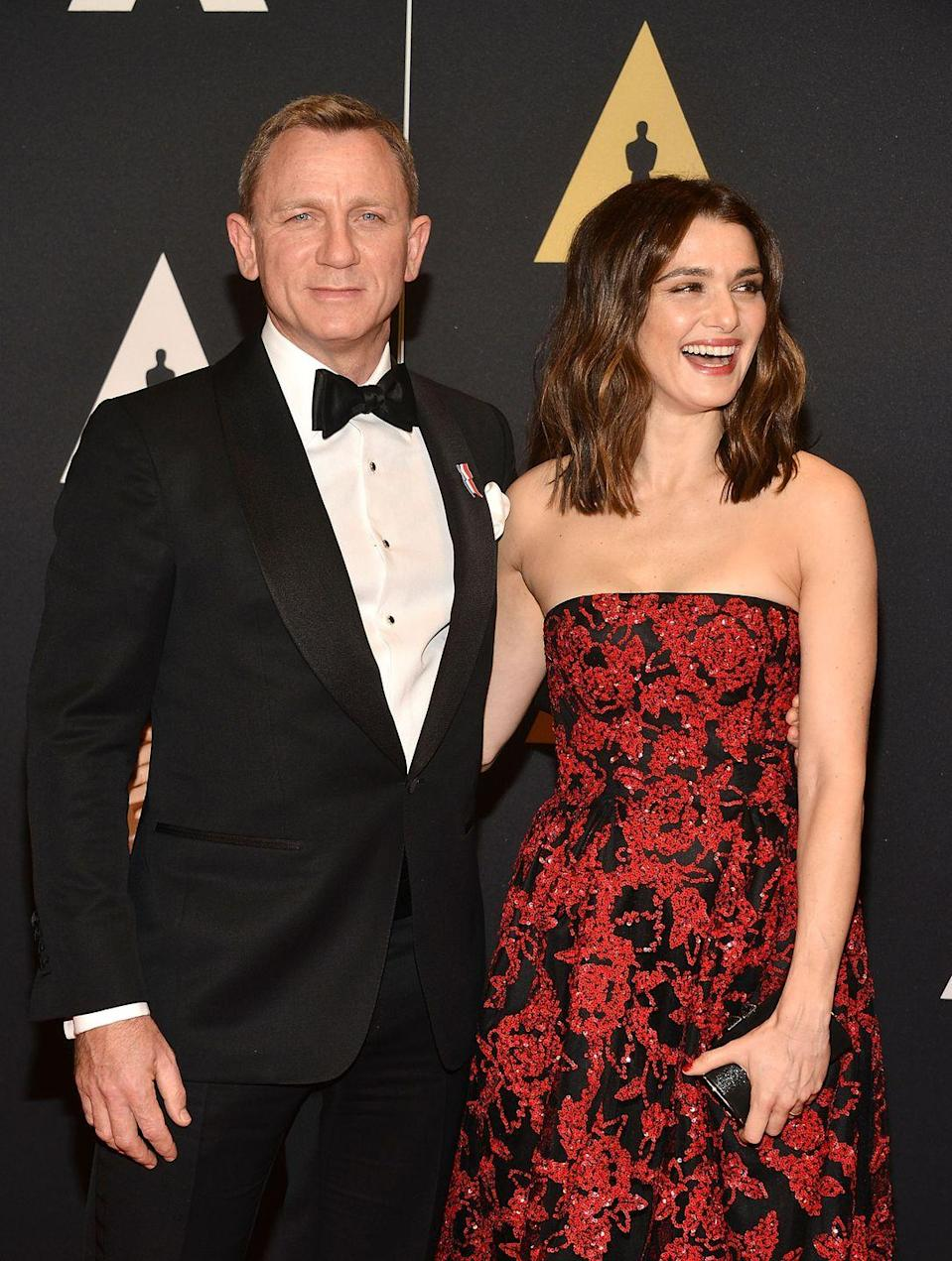 """<p>Since the start of their relationship, Daniel Craig and Rachel Weisz have kept their life together private. But a year later, they confirmed that they got married in a small New York ceremony with only four guests. """"We did it privately and we've got a lot of people to thank for that,"""" Daniel told <a href=""""https://www.gq-magazine.co.uk/article/daniel-craig-interview"""" rel=""""nofollow noopener"""" target=""""_blank"""" data-ylk=""""slk:GQ"""" class=""""link rapid-noclick-resp""""><em>GQ</em></a>.</p>"""