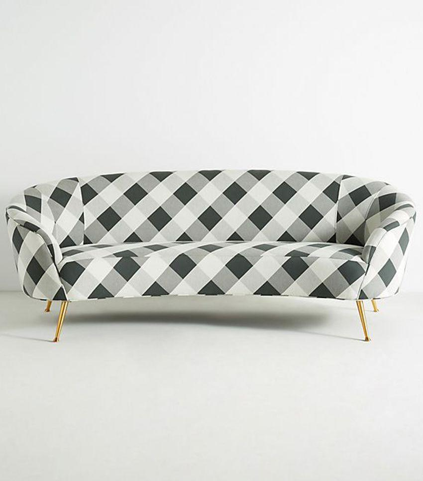 For a major statement, a buffalo-check sofa sure to turn heads.