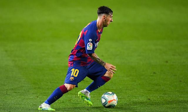 """<span class=""""element-image__caption"""">It's not been a vintage season for Lionel Messi and Barcelona, but he still tops the Spanish scoring charts.</span> <span class=""""element-image__credit"""">Photograph: David Ramos/Getty Images</span>"""