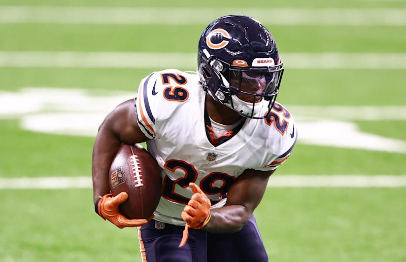The Bears have signed RB Tarik Cohen to a three-year contract extension. (Photo by Rey Del Rio/Getty Images)