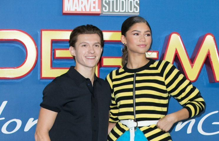 Tom Holland and Zendaya at the London premiere of 'Spider-Man: Homecoming' (credit: Lexi Jones/WENN.com)