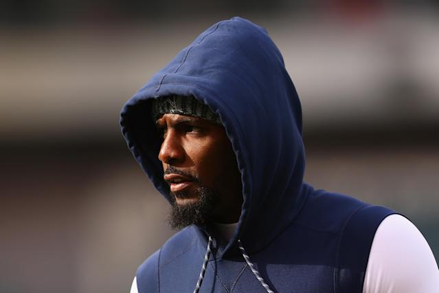 """Dez Bryant isn't concerned that he still hasn't found a team to play for next season, telling a user on Instagram that it's the """"last problem I have."""" (Getty Images)"""