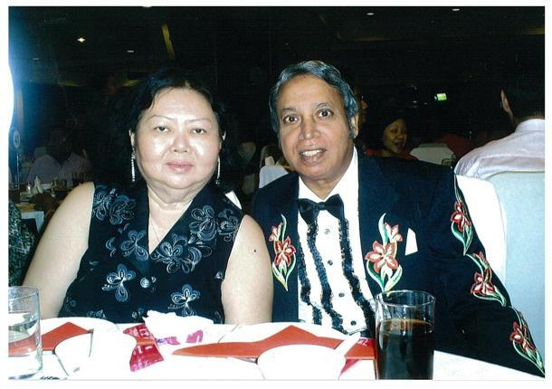 Doris and Raymond Fernando celebrate their 37-year marriage anniversary. (Photo courtesy of Deborah Choo)