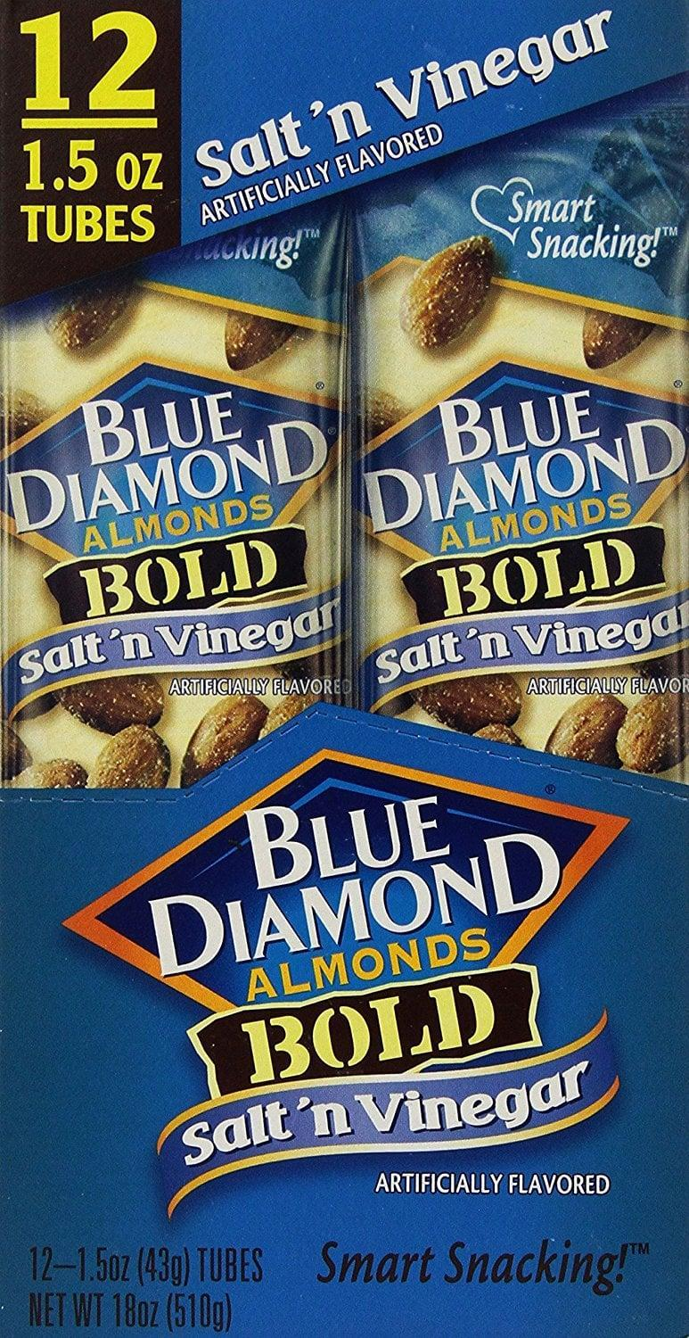 <p>Honestly, it's a saving grace that these <span>Blue Diamond Bold Almonds, Salt 'n Vinegar</span> ($17, originally $20 for 12 tubes) come in single-serving packets. They're so good that we need the portion control to keep this to a snack. </p>