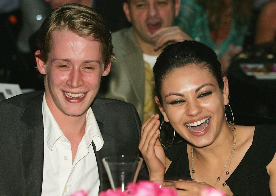 """<p>Macaulay's longest-lasting relationship in the spotlight was definitely with <a class=""""link rapid-noclick-resp"""" href=""""https://www.popsugar.com/Mila-Kunis"""" rel=""""nofollow noopener"""" target=""""_blank"""" data-ylk=""""slk:Mila Kunis"""">Mila Kunis</a>, whom he dated from 2002 to 2010. Despite being together for nearly a decade, they remained pretty low-key about it all. Mila was 18 and Macaulay was 21 when they first began dating, staying together through their 20s.</p> <p>""""<a href=""""http://people.com/movies/mila-kunis-macaulay-culkin-is-my-steady-rock/"""" class=""""link rapid-noclick-resp"""" rel=""""nofollow noopener"""" target=""""_blank"""" data-ylk=""""slk:We grew up together"""">We grew up together</a>. You find a steady rock in your life and that's all you need. We have our ups and downs, but work through them,"""" Mila told <strong>Women's Health</strong> in 2009, as reported by <strong>People</strong>. """"I don't know if I met him at 27 if it would have been a different relationship.""""</p> <p>In January 2011, news broke that the couple had split some months before. """"<a href=""""http://pagesix.com/2011/01/03/swan-song/"""" class=""""link rapid-noclick-resp"""" rel=""""nofollow noopener"""" target=""""_blank"""" data-ylk=""""slk:The split was amicable"""">The split was amicable</a>, and they remain close friends,"""" Mila's rep told <strong>Page Six</strong> at the time. Seven years later, however, Mila admitted that she """"f*cked up"""" the relationship and its ending. </p> <p>""""[It was] <a href=""""http://armchairexpertpod.com/pods/mila-kunis"""" class=""""link rapid-noclick-resp"""" rel=""""nofollow noopener"""" target=""""_blank"""" data-ylk=""""slk:a horrible, horrible breakup"""">a horrible, horrible breakup</a> . . . I f*cked up. I was an ass in my 20s and I'll be the first to admit it,"""" she revealed on Dax Shepard's <strong>Armchair Expert</strong> podcast. </p>"""