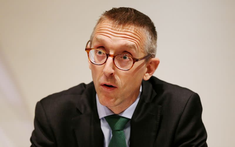 FILE PHOTO: Britain's Deputy Governor for Prudential Regulation and Chief Executive Officer of the Prudential Regulation Authority Sam Woods speaks during the Bank of England's financial stability report at the Bank of England in the City of London