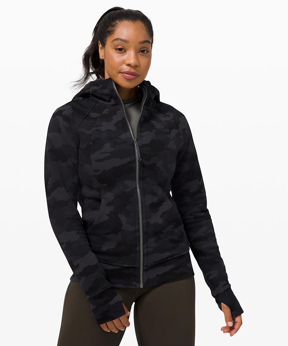 Lululemon Scuba Hoodie Light Cotton Fleece. Image via Lululemon