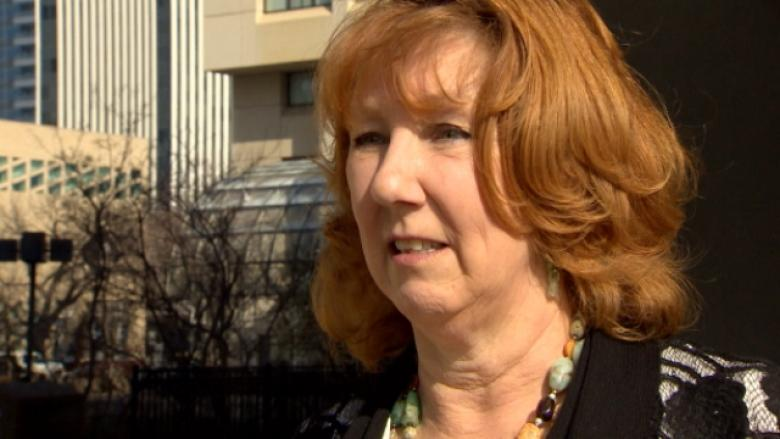 Joan Greenough speaks to CBC News on Monday after learning trespassing charges had been dropped against her.