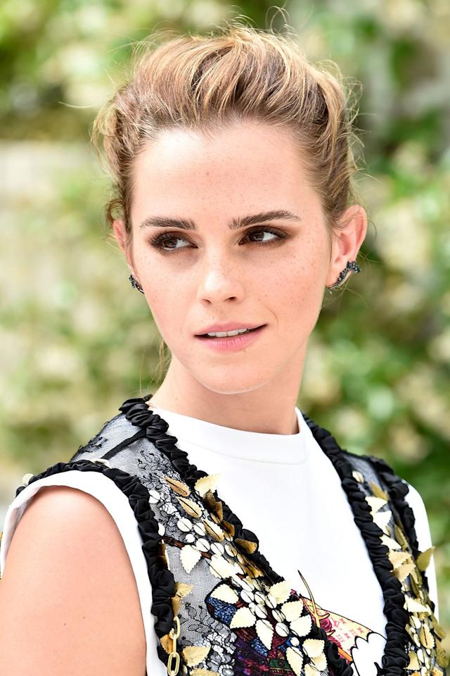 <p>You don't need long hair to pull off a soft twist because, fun fact, Emma Watson's hair is actually only chin-length. As long as you've got a ton of bobby-pins and hairspray, you can pull off an updo with any cut.</p>