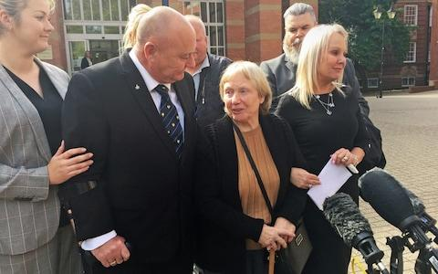 Mrs Eccleston with her family outside Stafford Crown Court after she was cleared of murder and manslaughter following a two-week trial - Credit: Matthew Cooper/PA