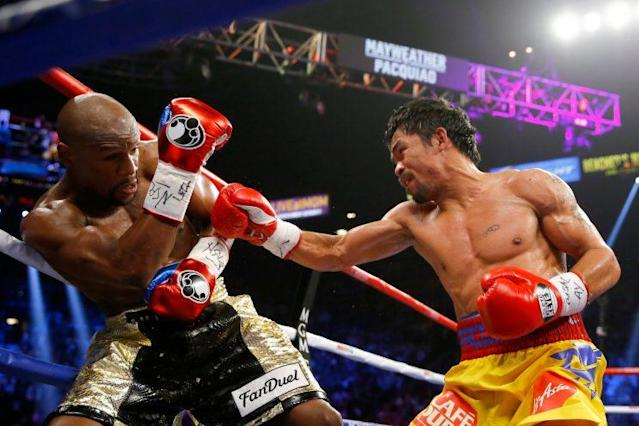 The May 2, 2015, bout between Floyd Mayweather and Manny Pacquiao sold 4.6 million on pay-per-view, but a series of mistakes turned off fans. (Getty Images)