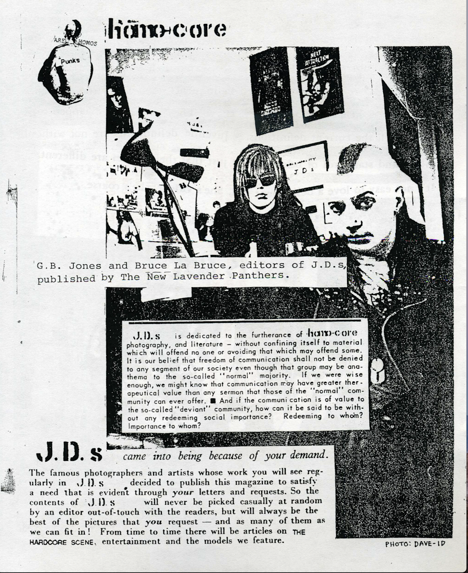From J.D.s #5: G.B. Jones and Bruce LaBruce.