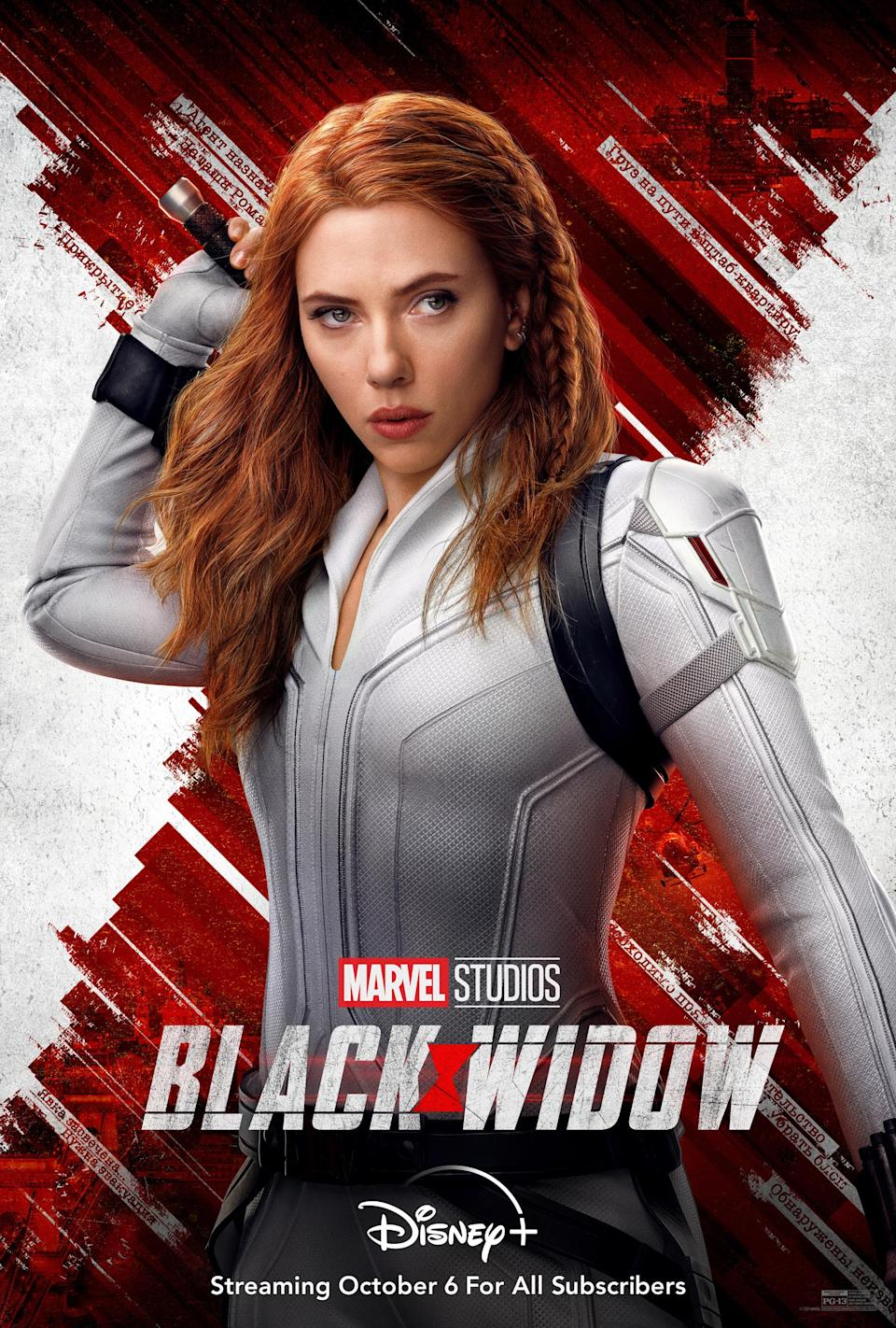 """Disney also released a new """"Black Widow"""" poster for the streaming date. - Credit: Disney Plus"""