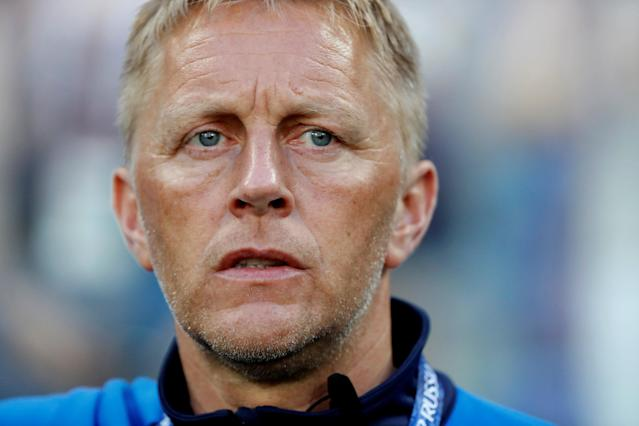 Soccer Football - World Cup - Group D - Nigeria vs Iceland - Volgograd Arena, Volgograd, Russia - June 22, 2018 Iceland coach Heimir Hallgrimsson before the match REUTERS/Jorge Silva
