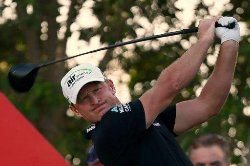 Jamie Donaldson of Wales during the final round of the Abu Dhabi Golf Championship on January 20, 2013