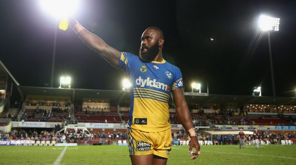 Semi Radradra arrived back in Sydney from Fiji on Thursday night, he was charged by police hours later. Photo: Getty