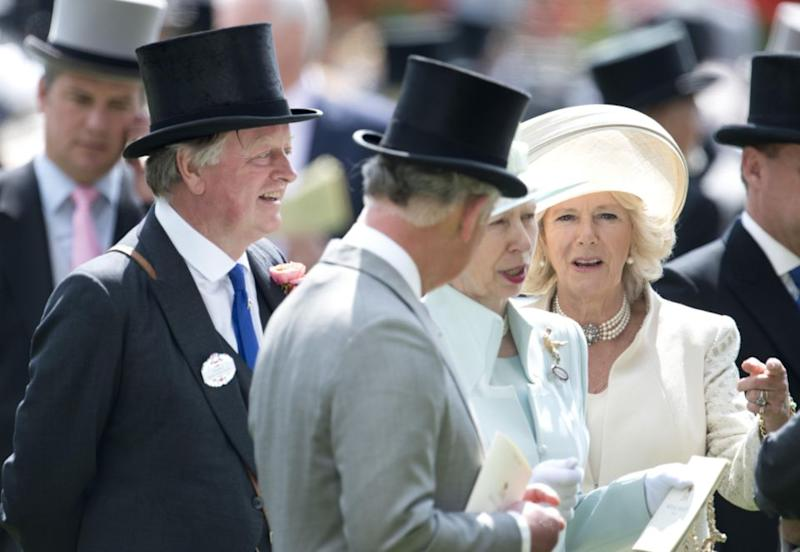 The four still mix in the same circles today, they're pictured here at Ascot. Photo: Getty
