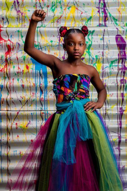 PHOTO: Marian Scott, 8, gains professional photo shoot after being denied school pictures because of the color of her hair. (Jermaine Horton Photography)