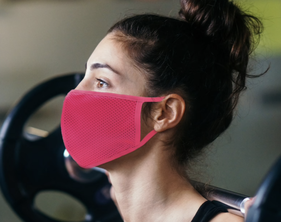 11 breathable masks to wear during your workout: Studio3DX Athletic Face Mask in Pink (Photo via Etsy)