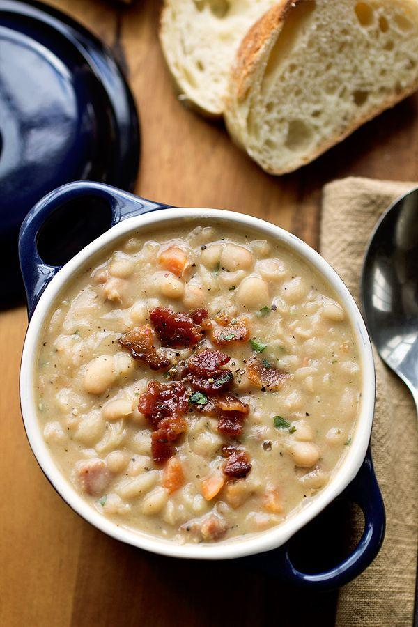 "<p>When you can see the bacon right on top, you know it's good.</p><p>Get the recipe from <a href=""http://thecozyapron.com/a-cozy-stew-creamy-white-bean-stew-with-smokey-bacon-my-companion-on-a-grey-day/"" rel=""nofollow noopener"" target=""_blank"" data-ylk=""slk:The Cozy Apron"" class=""link rapid-noclick-resp"">The Cozy Apron</a>.</p>"