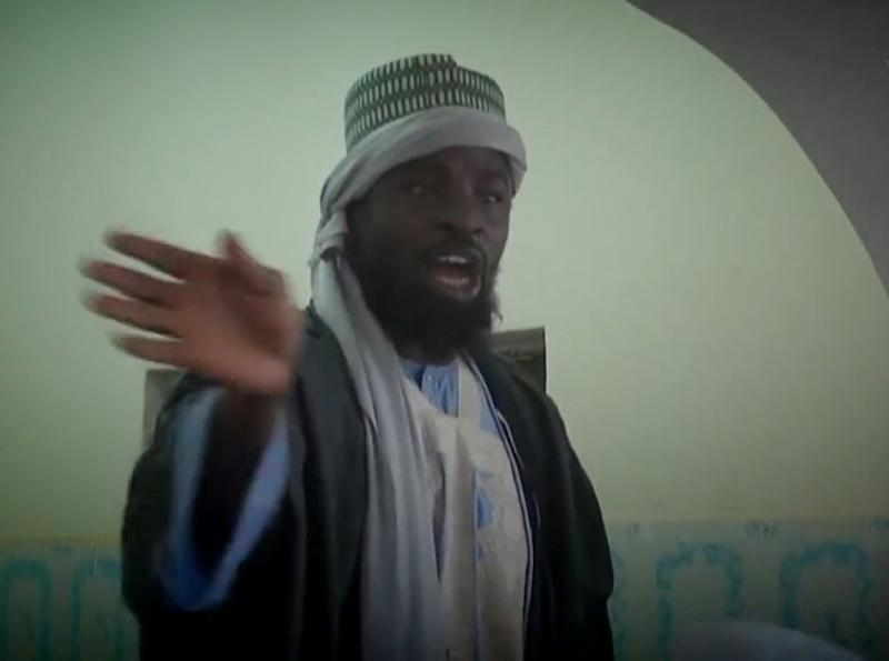 This screengrab taken on November 9, 2014 from a Boko Haram video released by the Nigerian Islamist extremist group Boko Haram and obtained by AFP shows the leader of the Nigerian Islamist extremist group Boko Haram, Abubakar Shekau (AFP Photo/HO, HO, HO)
