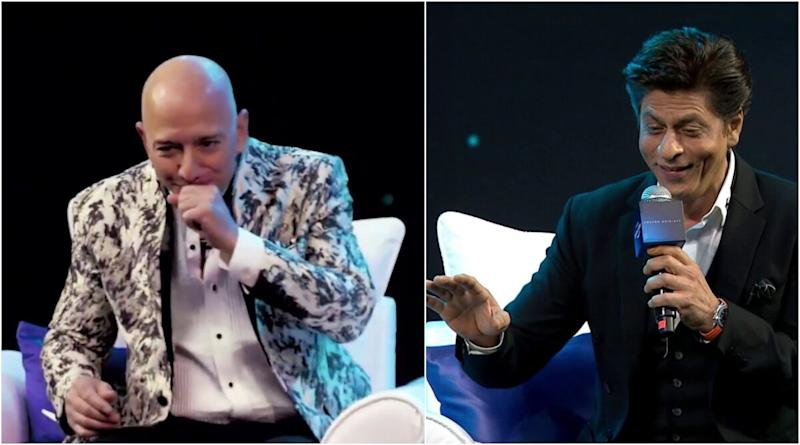 Shah Rukh Khan Leaves Amazon CEO Jeff Bezos Laughing Hard With His Responseto Being Called the 'Most Humble Man' (Watch Video)