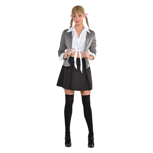 Amscan Britney Spears Hit Me Baby One More Time school girl costume; funny couple's halloween costumes