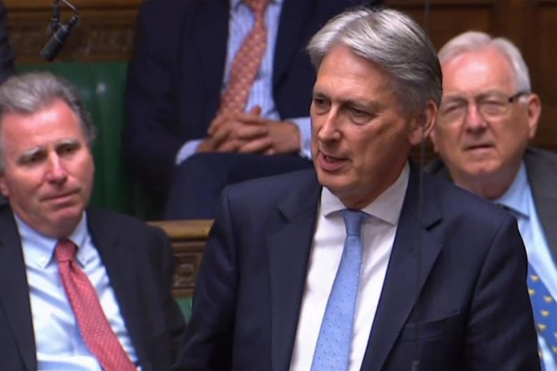 Philip Hammond was among Tory MPs to vote against the Prime Minister (AFP/Getty Images)