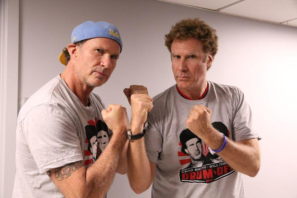 <p>Could this merely be sibling rivalry? As the two actors face off, between their fair skin and similar features, Will Ferrell and Chad Smith could be mistaken for brothers. </p>