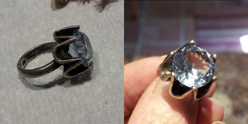 """On the strength of reviews, I bought this item but I really didn't think it could clean my jewelry as the jewellers do. I was wrong. My diamond rings came out looking as brilliant as the did the day they were purchased over 20 years ago,"" a five-star reviewer by the name of Chloe1251 gushed. ""Really amazing was my 35-year-old aquamarine ring, which I had tried to clean but it remained dull and cloudy. Pictures say a thousand words, so these before and after pics say it all."" (Chloe1251/Amazon)"