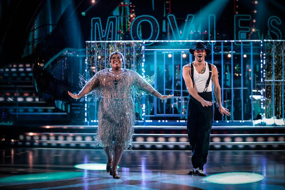 Programme Name: Strictly Come Dancing 2021 - TX: 09/10/2021 - Episode: Strictly Come Dancing - TX3 LIVE SHOW (No. n/a) - Picture Shows: ++LIVE SHOW++ Judi Love, Graziano Di Prima - (C) BBC - Photographer: Guy Levy