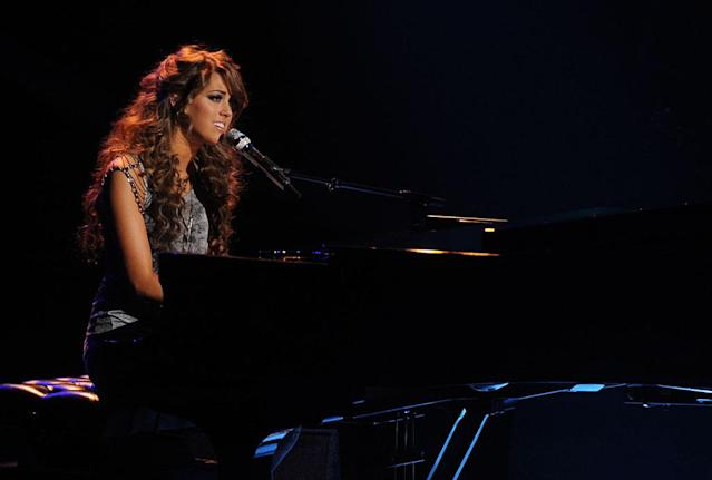 "Angie Miller performs ""I'll Stand by You"" on the Wednesday, April 17 episode of ""American Idol."""