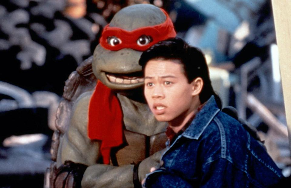 Raphael and Keno infiltrate the Foot Clan in 'The Secret of the Ooze' (Photo: New Line Cinema/courtesy Everett Collection)