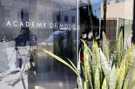 The Academy of Motion Picture Arts and Sciences building is seen in Beverly Hills