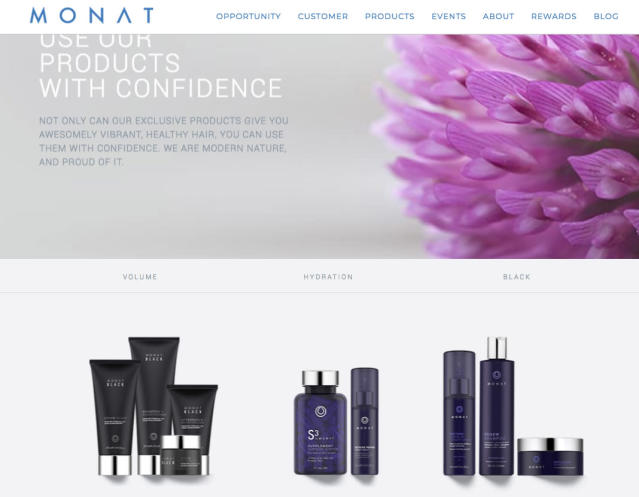 Some women are claiming that Monat products are causing hair loss and scalp sores, but the company is fighting back against what it deems malicious attacks. (Photo: Monat)