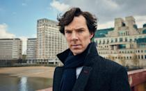 """<p>It's weird, because Cumberbatch is <a href=""""https://www.menshealth.com/entertainment/a31273585/infinity-war-deleted-scene-iron-man-doctor-strange/"""" rel=""""nofollow noopener"""" target=""""_blank"""" data-ylk=""""slk:literally a Marvel star"""" class=""""link rapid-noclick-resp"""">literally a Marvel star</a> who's had his own hit movie—<em>Doctor Strange</em>—and had key roles in several others—<em>Thor: Ragnarok, Avengers: Infinity War, Avengers: Endgame</em>—and yet Benedict Cumberbatch <em>still </em>might be best known for his titular portrayal of the world's greatest detective in the BBC's infrequently-airing <em>Sherlock </em>series. </p><p>Alongside Martin Freeman's uptight Watson—what a combo, we might add—Cumberbatch plays the detective with a smarmy, snarky edge that fits the character perfectly in our present day. There have been other ways to play Sherlock Holmes, and play him well—but none have been more perfect for our times than that of Mr. Cumberbatch. </p><p><a class=""""link rapid-noclick-resp"""" href=""""https://www.netflix.com/title/70202589"""" rel=""""nofollow noopener"""" target=""""_blank"""" data-ylk=""""slk:Stream Sherlock Here"""">Stream <em>Sherlock</em> Here</a></p>"""