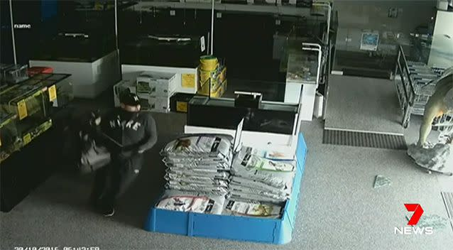 Anyone who recognises the man is urged to contact Crime Stoppers. Photo: 7 News