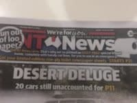 The NT News printed a few extra blank pages in today's paper as a gag about toilet paper panic buying