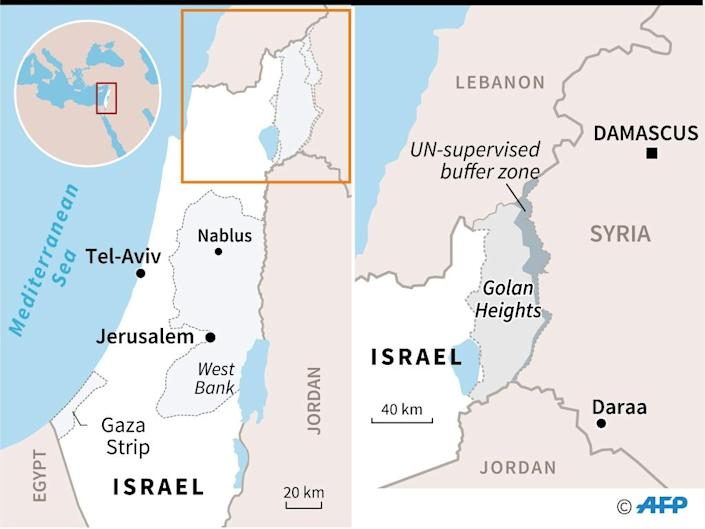 Map locating the Golan Heights (AFP Photo/AFP)