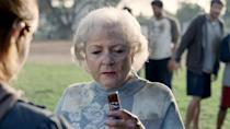"""<p>In 2010, White went viral with her commercial for Snickers candy bars. The commercial aired during the 2010 Super Bowl XLIV, and White appeared alongside Abe Vigoda. In an interview on <em><a href=""""https://www.youtube.com/watch?v=60c9Rc0pw2c"""" rel=""""nofollow noopener"""" target=""""_blank"""" data-ylk=""""slk:The Ellen DeGeneres Show"""" class=""""link rapid-noclick-resp"""">The Ellen DeGeneres Show</a></em>, White expressed her shock at how popular the commercial was, saying, """"The strange part is it's now showing all over the world. I don't know about a commercial doing that. We're in Africa, we're in Central Europe... and a lot of the countries we're in don't have football!"""" </p>"""