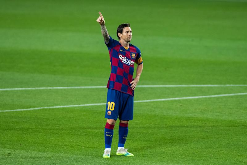 Lionel Messi has a big Barcelona milestone in sight. (Photo by Marc Gonzalez Aloma / AFP7 / Europa Press Sports via Getty Images)