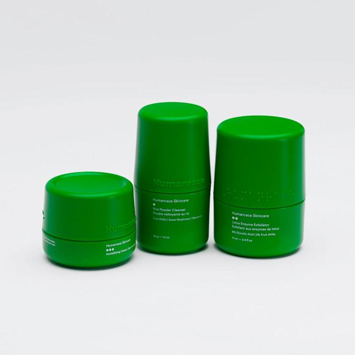 """Self-care Sunday, the Dad way—courtesy of Pharrell's new line. $100, Humanrace. <a href=""""https://www.humanrace.com/product/routine-pack"""" rel=""""nofollow noopener"""" target=""""_blank"""" data-ylk=""""slk:Get it now!"""" class=""""link rapid-noclick-resp"""">Get it now!</a>"""