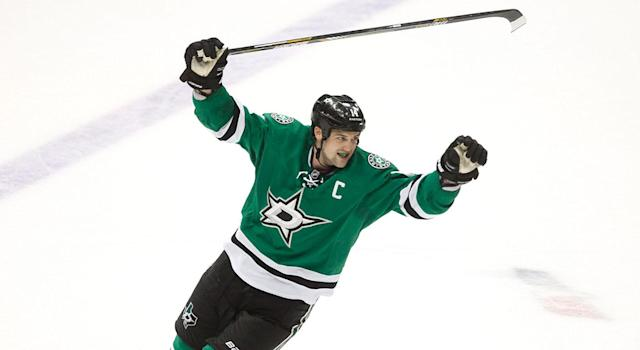 <p>The Stars signed Jamie Benn to an eight-year, $76M deal in 2016. (Tim Sharp/AP) </p>